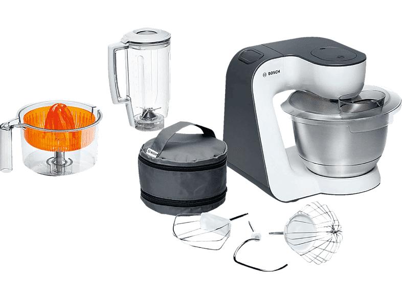 Bosch Robot de cocina - Bosch MUM 50123, Potencia 800W, Capacidad bol 3.9 l, Múltiples accesorios