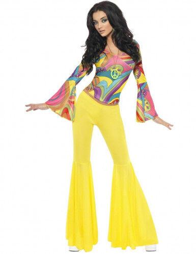 Disfraz hippie de los años 70 para mujer S