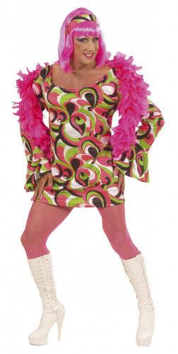 Disfraz de drag queen estilo disco años 70 para hombre XL
