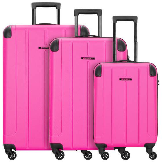Franky Munich Maleta 4 ruedas set 3pzs. pink2