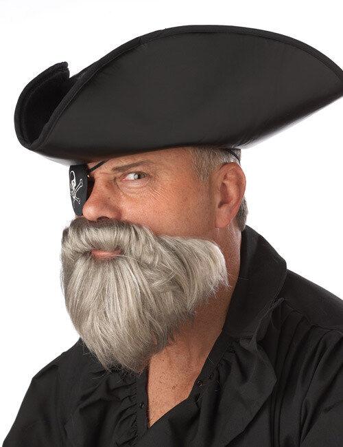 Vegaoo.es Barba gris pirata de Caribe hombre