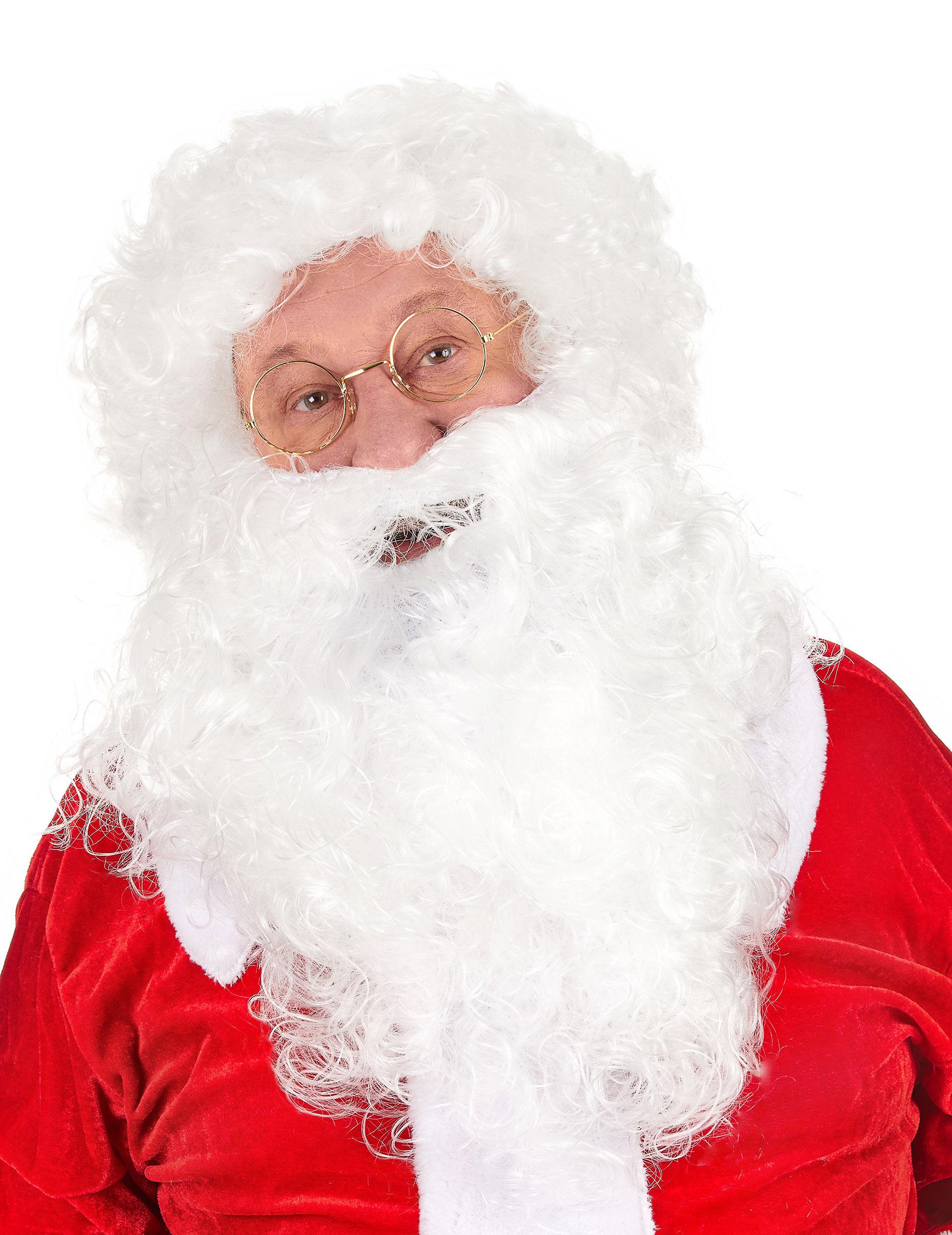 Vegaoo.es Peluca y barba Papá Noel 235 g