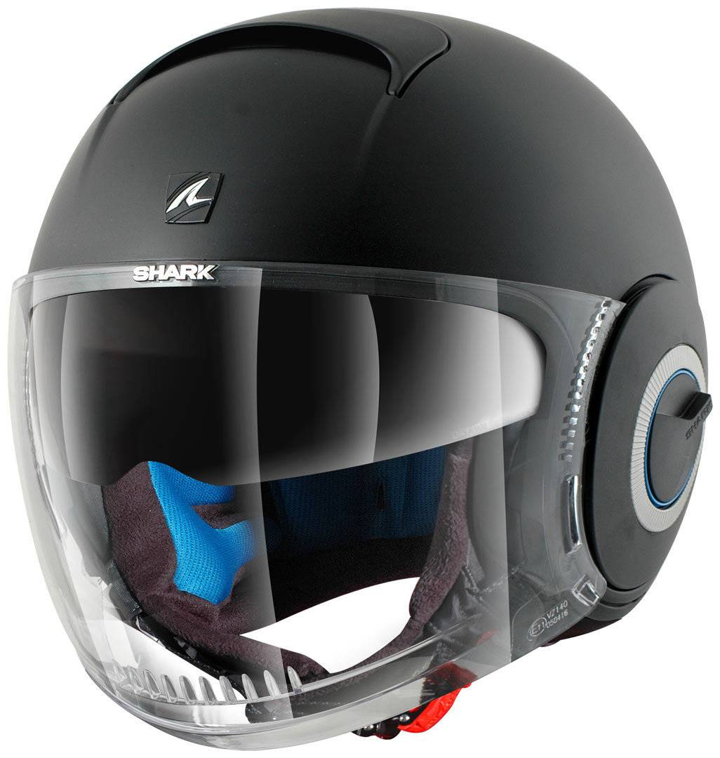 Shark Nano Casco Jet Negro Mate M (57/58)