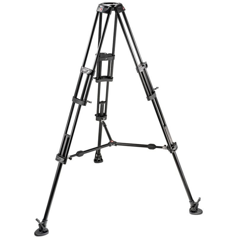 Manfrotto Trípode de vídeo Pro 545B con sistema de nivelación de bola 100mm con separador