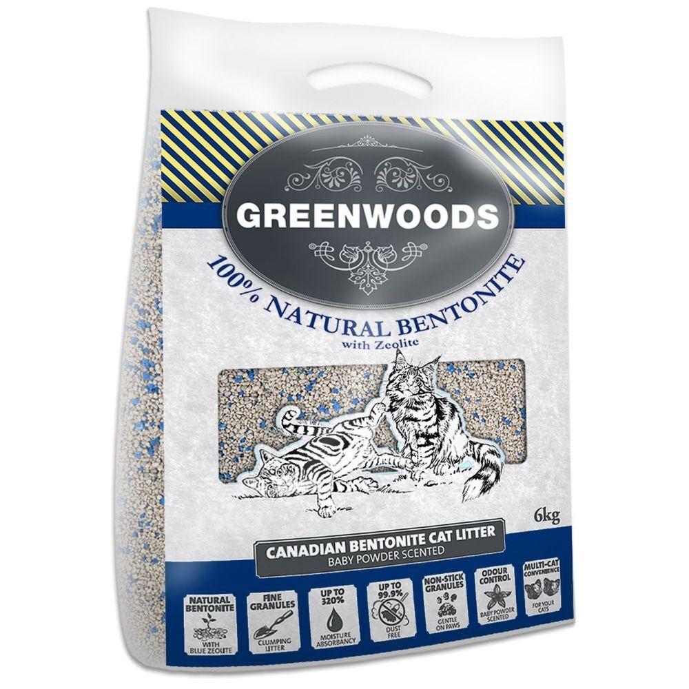 Greenwoods arena aglomerante de bentonita canadiense - 6 kg - Tamaño de prueba