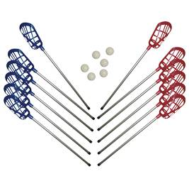 LaCrosse Set lacrosse (12 palos + 6 pelotas)