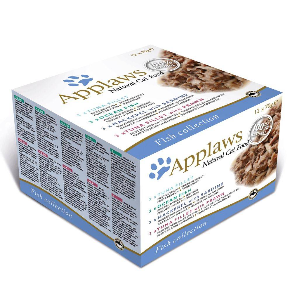 Applaws Adult latas para gatos 12 x 70 g - Pack mixto - Selección de pescado