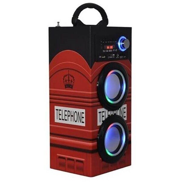 Majestic 115094-LN Majestuosa Torre de Audio TS-79 BT/USB/SD/AUX/RADIO Luces de discoteca de Londres