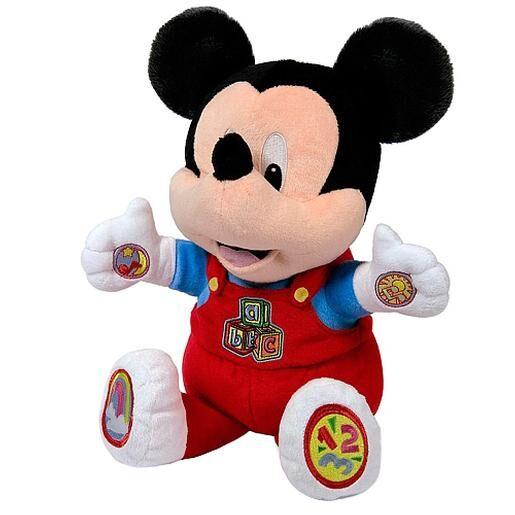 CLEMENTONI Disney baby - Mickey Mouse - Peluche Educativo Baby Mickey