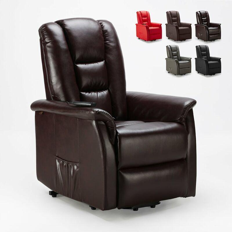 Le Roi Du Relax - Sillón relax de cuero polipiel de diseño con sistema