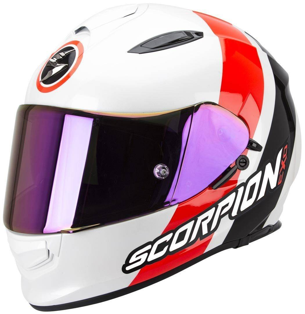 Scorpion Exo 510 Air Hero Casco Negro Blanco Rojo S