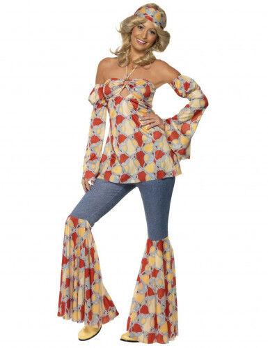 Disfraz de hippie años 70 para mujer L