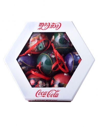 7 Bolas de Navidad Coca-Cola 7.5 cm Única