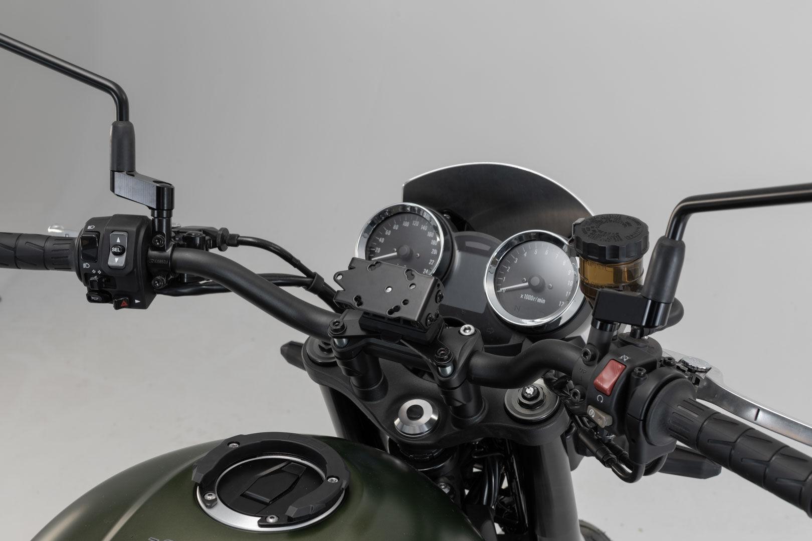 SW-Motech Soporte de GPS cockpit - Negro. Kawasaki Z900RS/ Cafe (17-).