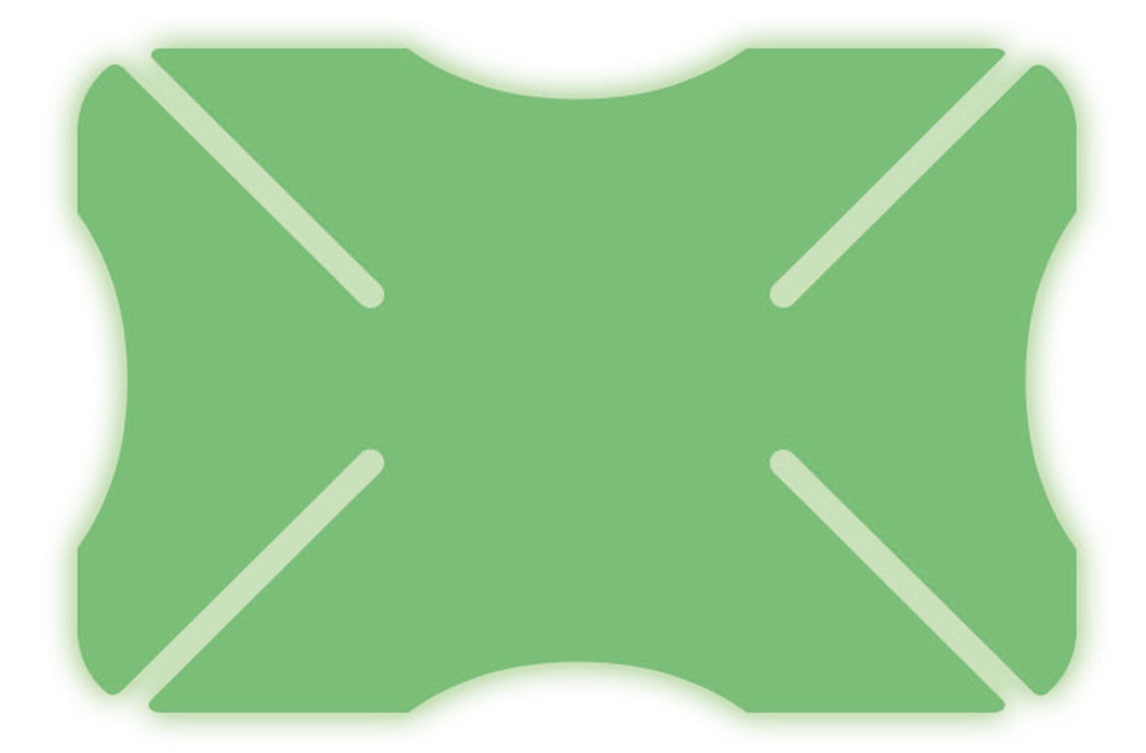 Oxford Glowz Parachoques del casco Verde