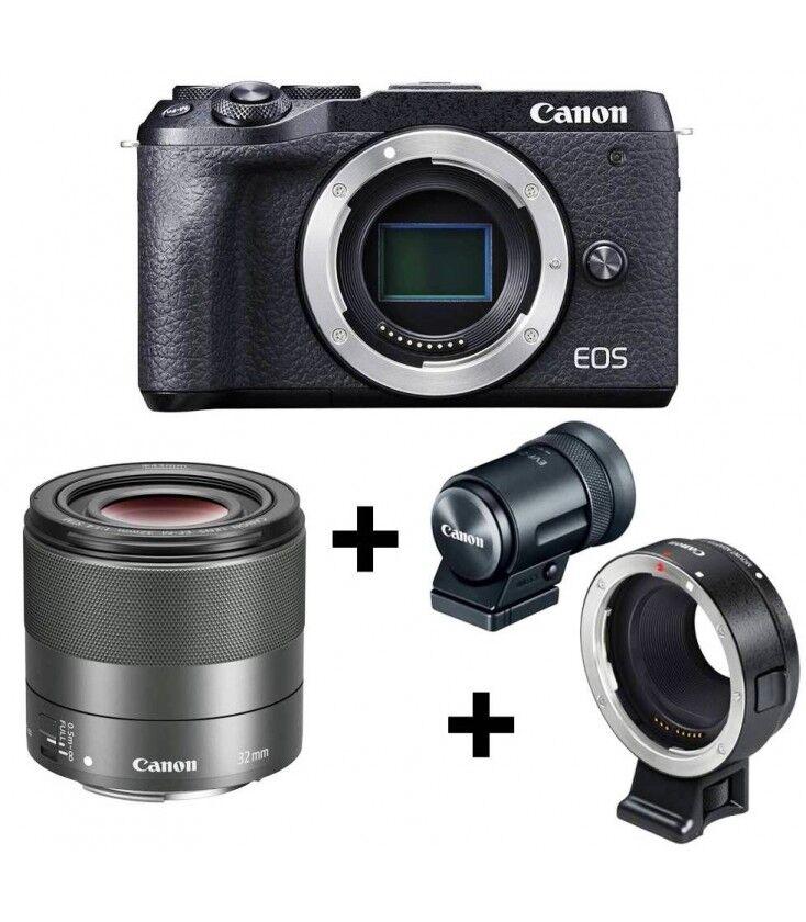 Canon Eos M6 Mark Ii + 32/1.4 + Evf-dc2 + Adaptador Ef-m