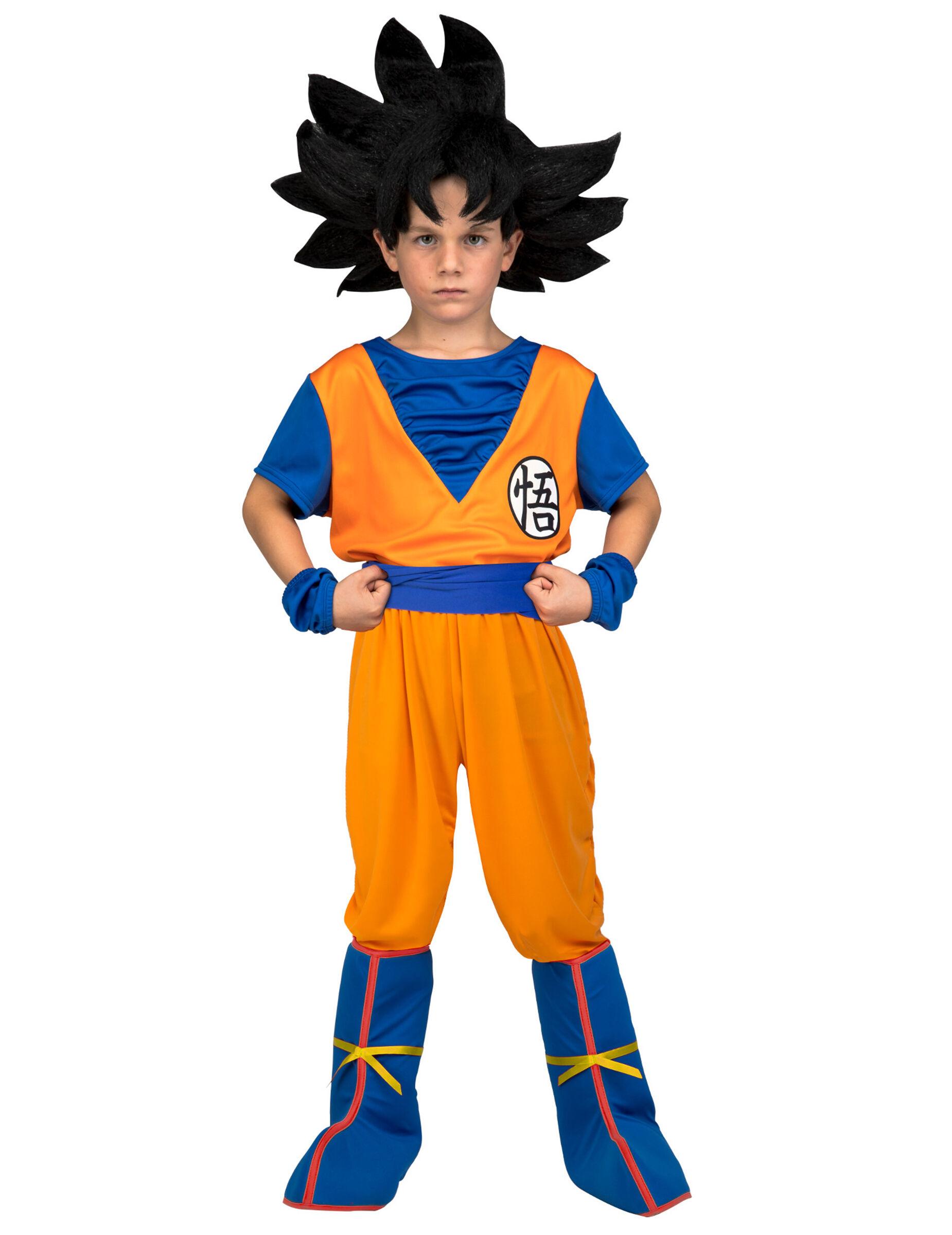 Vegaoo.es Disfraz con peluca Goku Dragon Ball niño en caja - 7-9 años