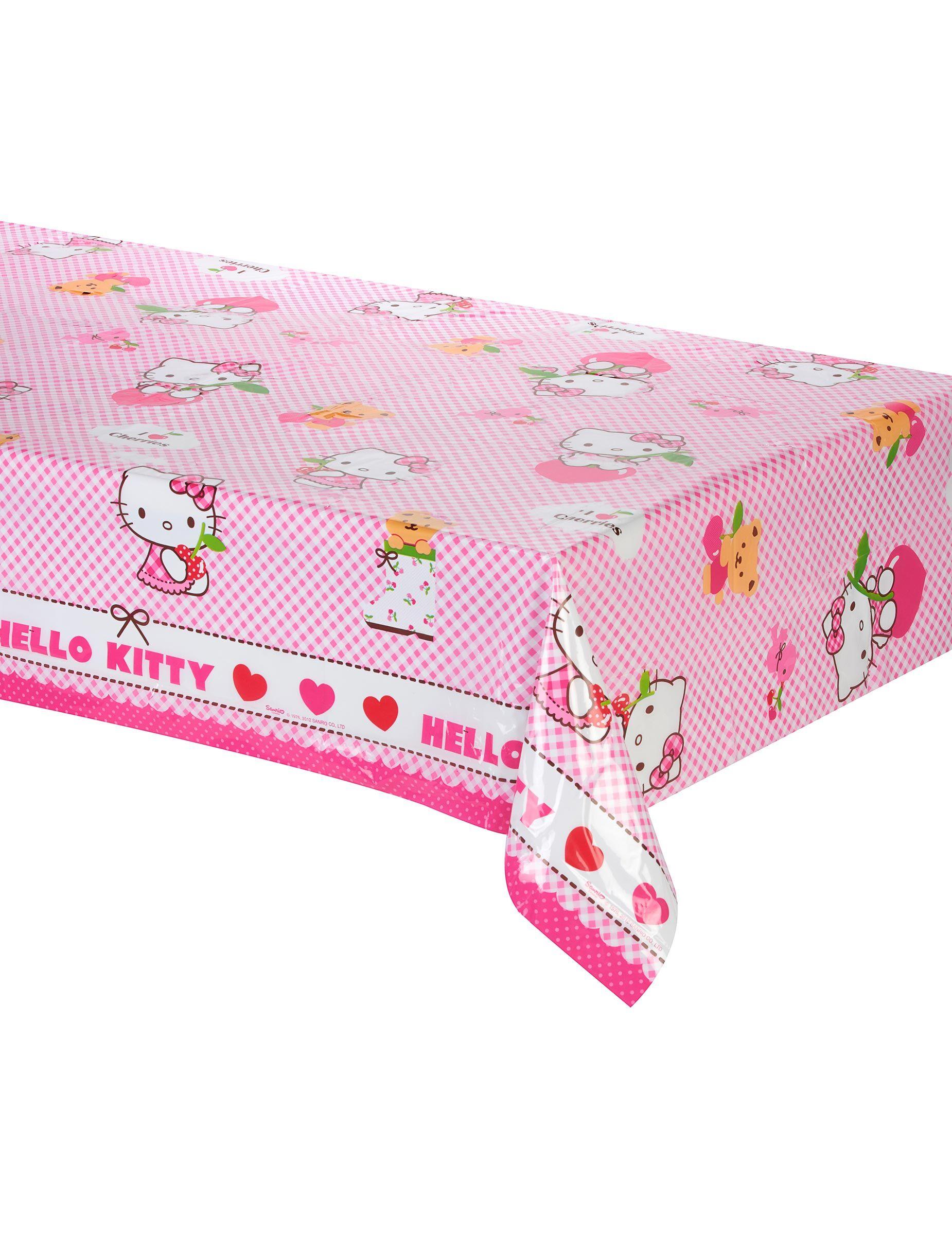 Vegaoo.es Mantel de plástico Hello Kitty 120x180 cm