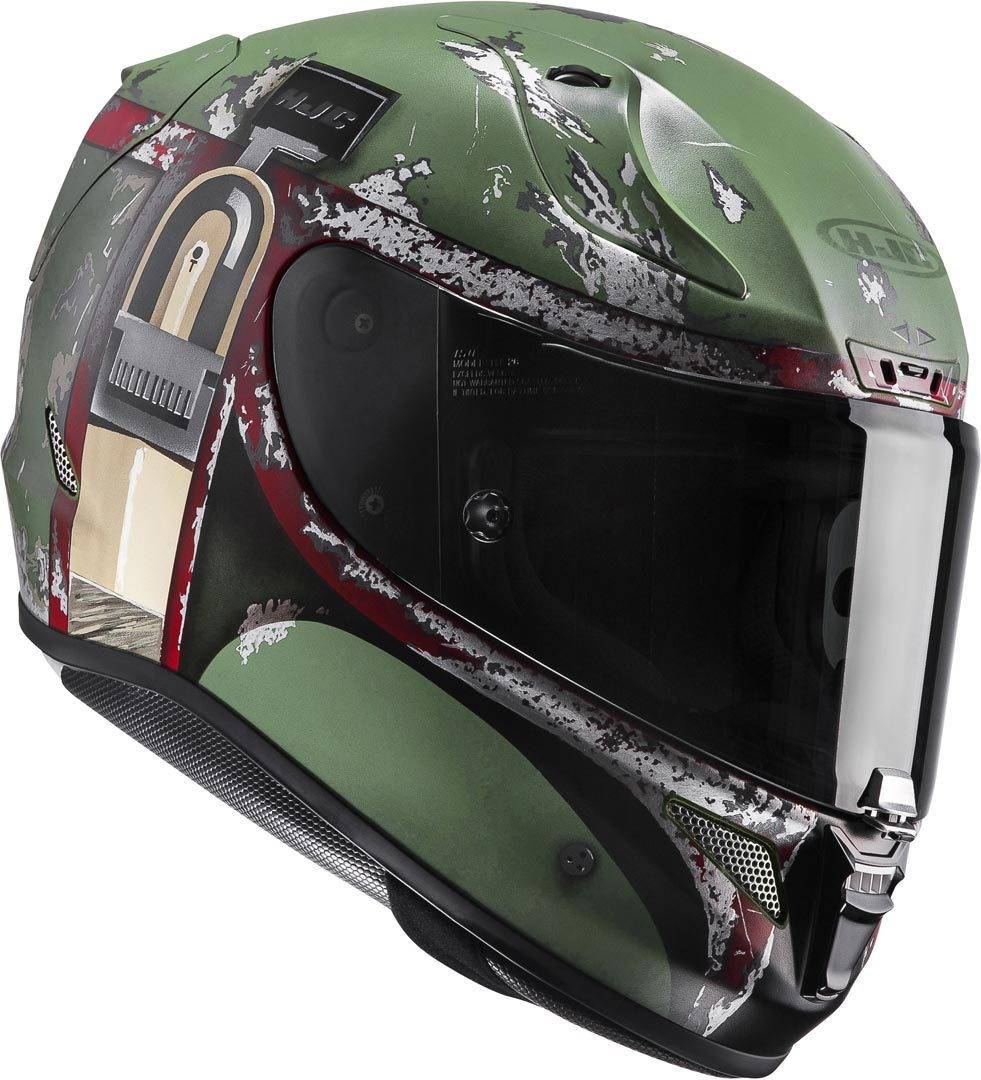 HJC RPHA 11 Boba Fett Star Wars Casco Negro Verde M