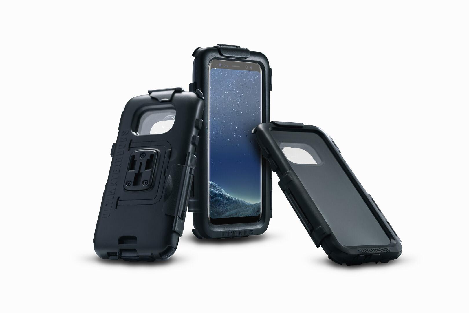 SW-Motech Hardcase para Samsung Galaxy S8 - Resistente al agua. Negro. Para soportes de GPS.