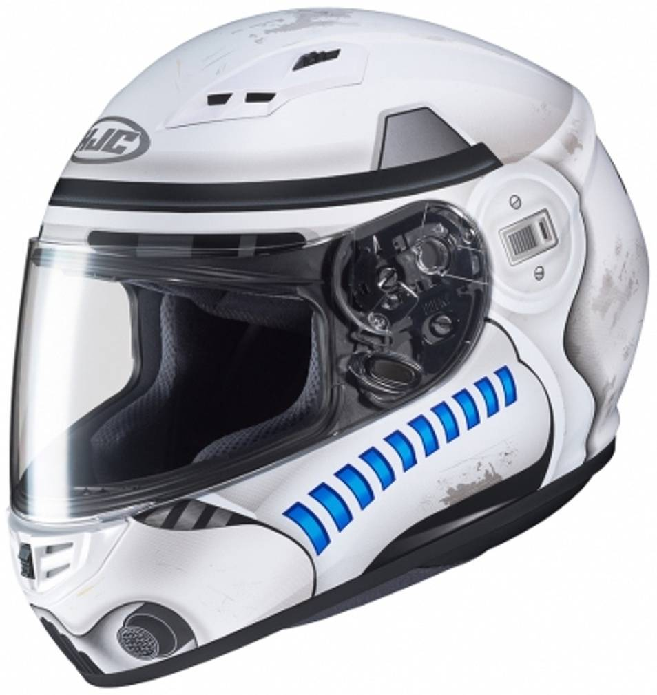 HJC CS-15 Star Wars Storm Trooper Casco Gris Blanco Azul XL