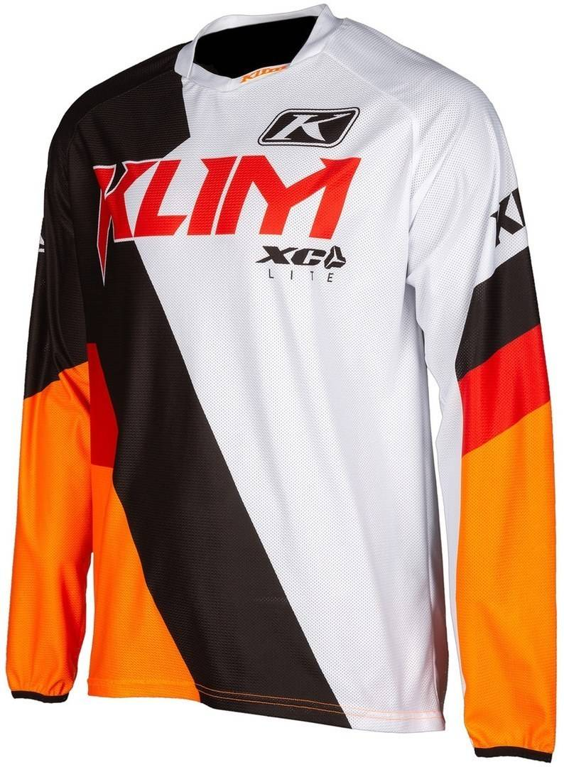 Klim XC Lite Motocross Jersey Negro Blanco Naranja XL
