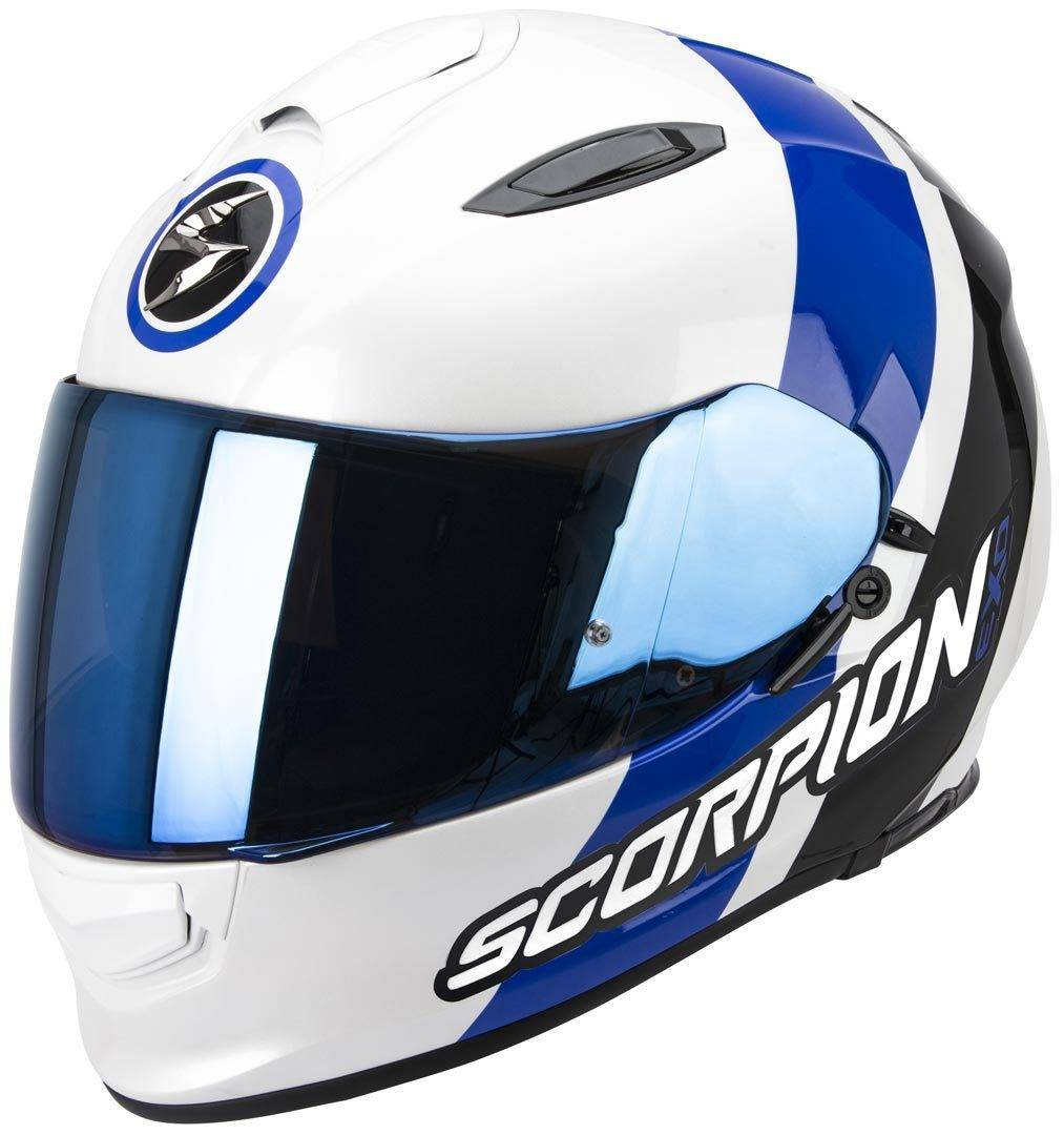 Scorpion Exo 510 Air Hero Casco Negro Blanco Azul XS
