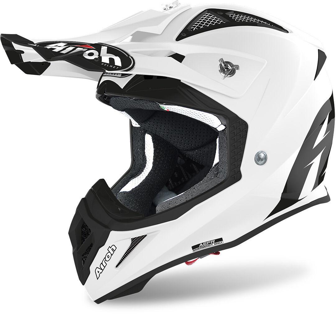 Airoh Aviator ACE Color Casco de Motocross Blanco M