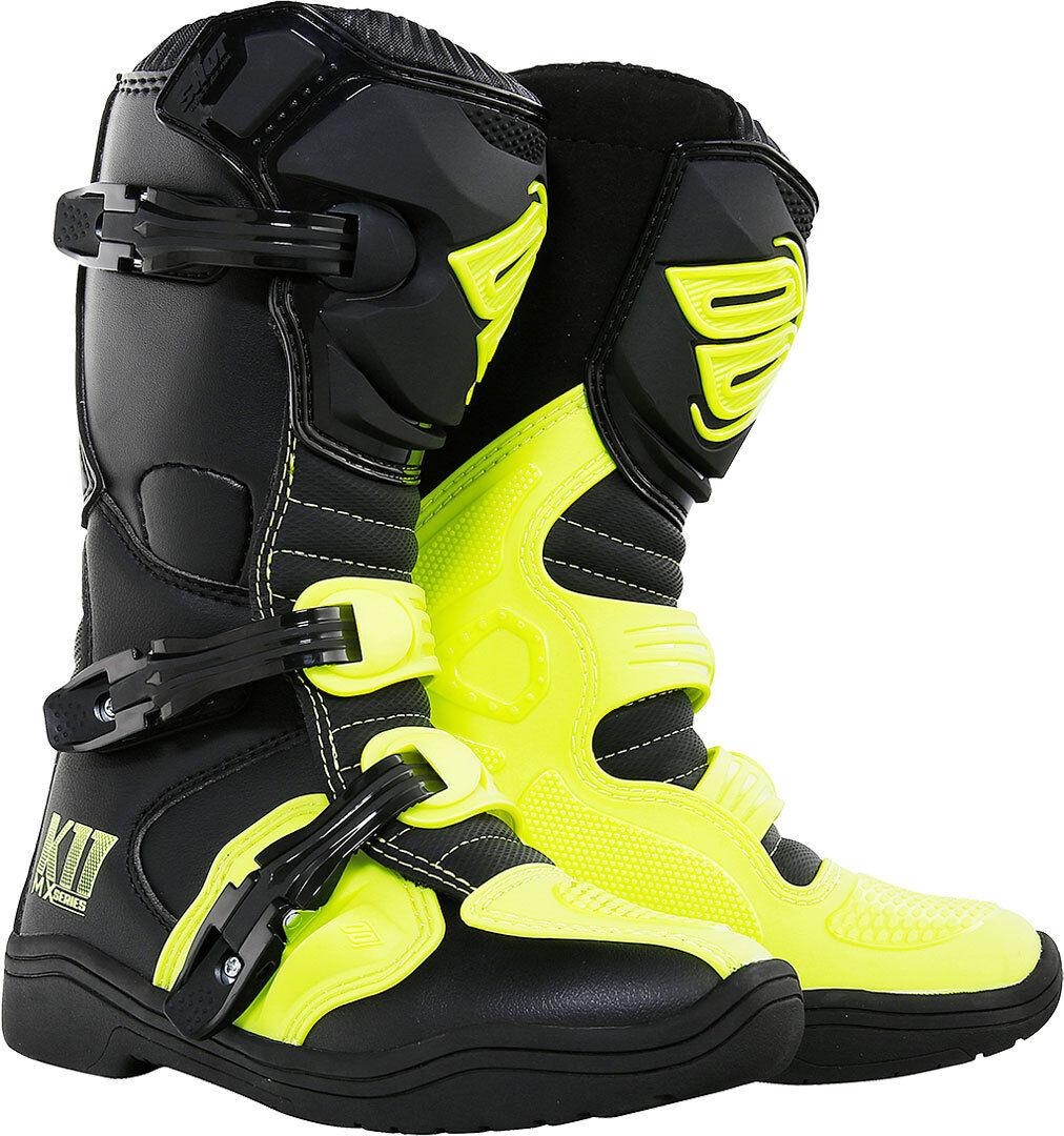 Shot K11 Niños botas Negro Amarillo 32
