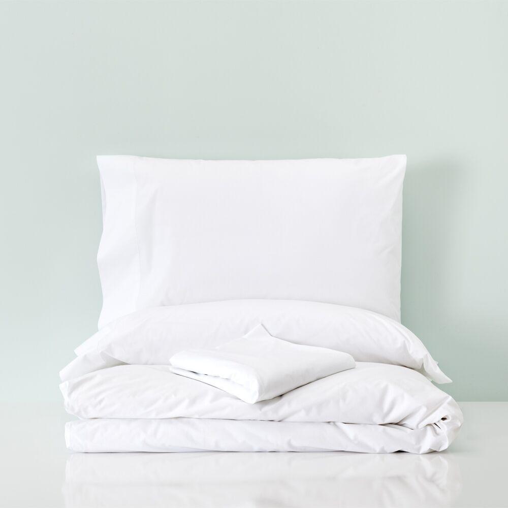 Basics Funda nórdica con bajera percal algodón cama 150 y 160 cm Niza