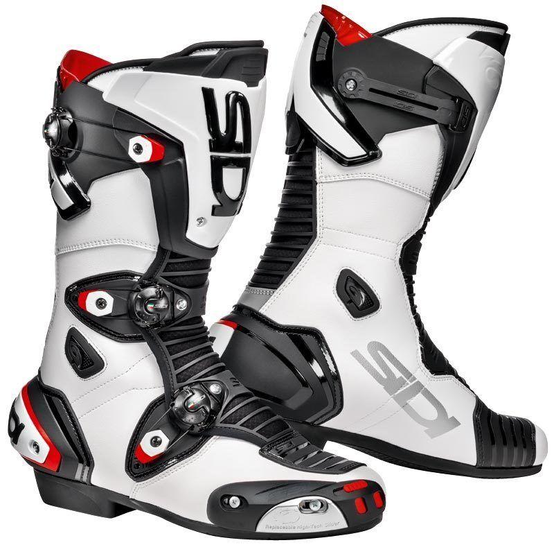 Sidi Mag-1 Motorcycle Boots Botas de moto Negro Blanco 43