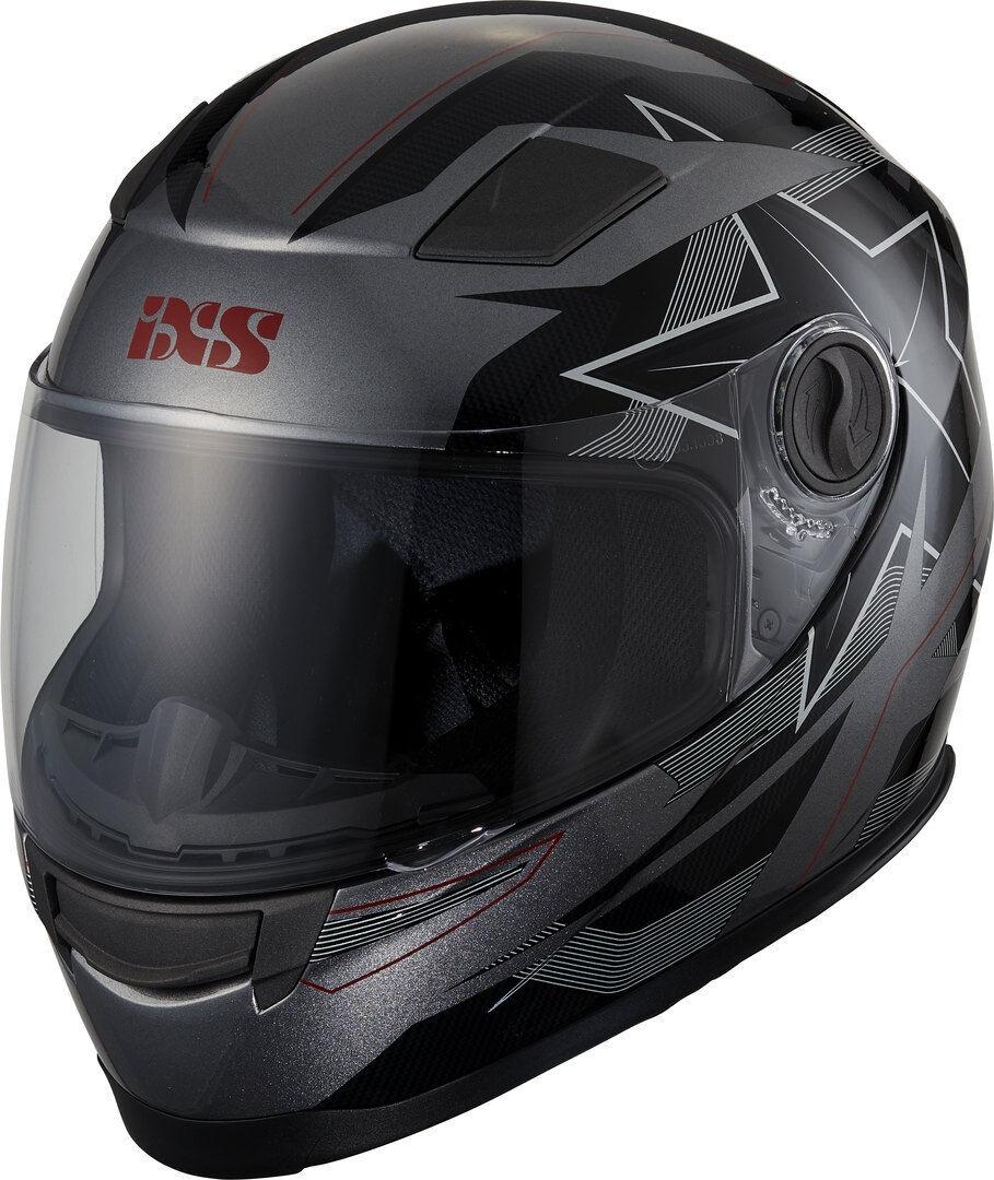 IXS 135 Kid 2.0 Niños casco Negro Gris Rojo XL