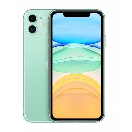 "Apple iPhone 11 15,5 cm (6.1"""") 128 GB SIM doble 4G Verde iOS 13"