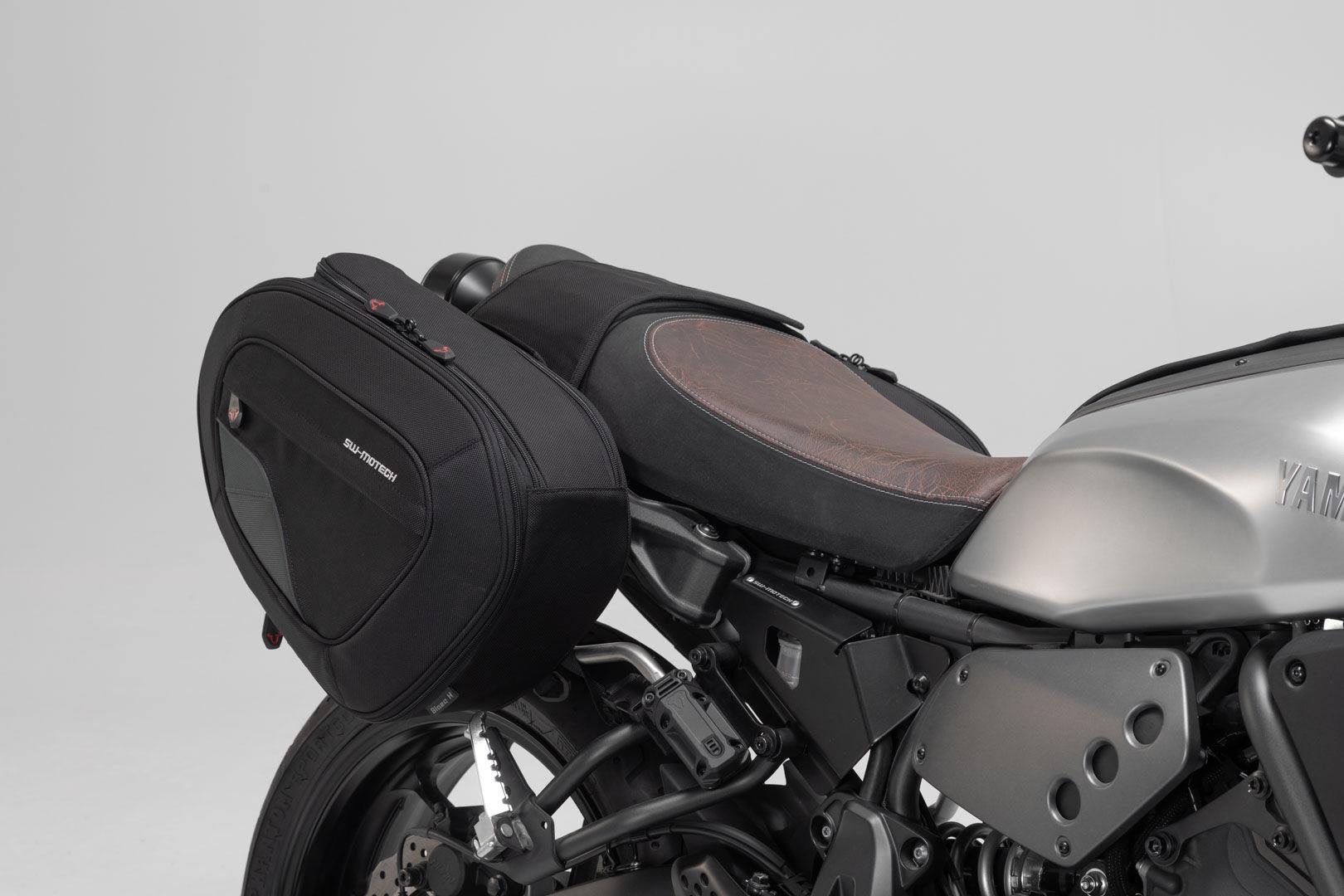 SW-Motech Set de alforjas BLAZE H - Negro/Gris. Yamaha XSR 700 (16-).