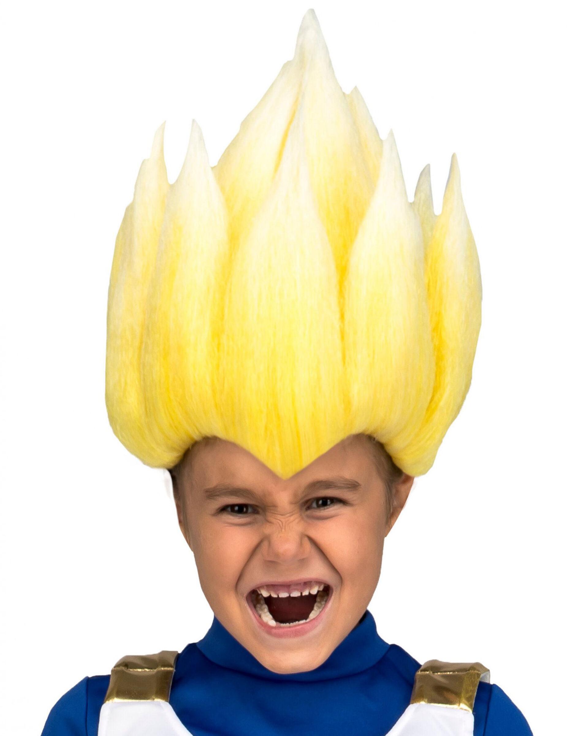 Vegaoo.es Peluca Super Saiyan Vegeta Dragon Ball niño