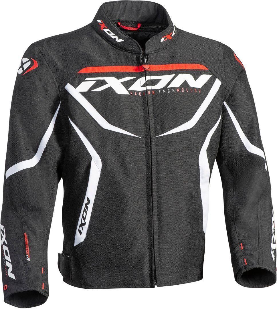 Ixon Sprinter Niños textil chaqueta de la motocicleta Negro Blanco XL