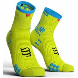 Compressport Calcetines Pro Racing Socks V3.0 Run High Amarillo Fluor Talla T3