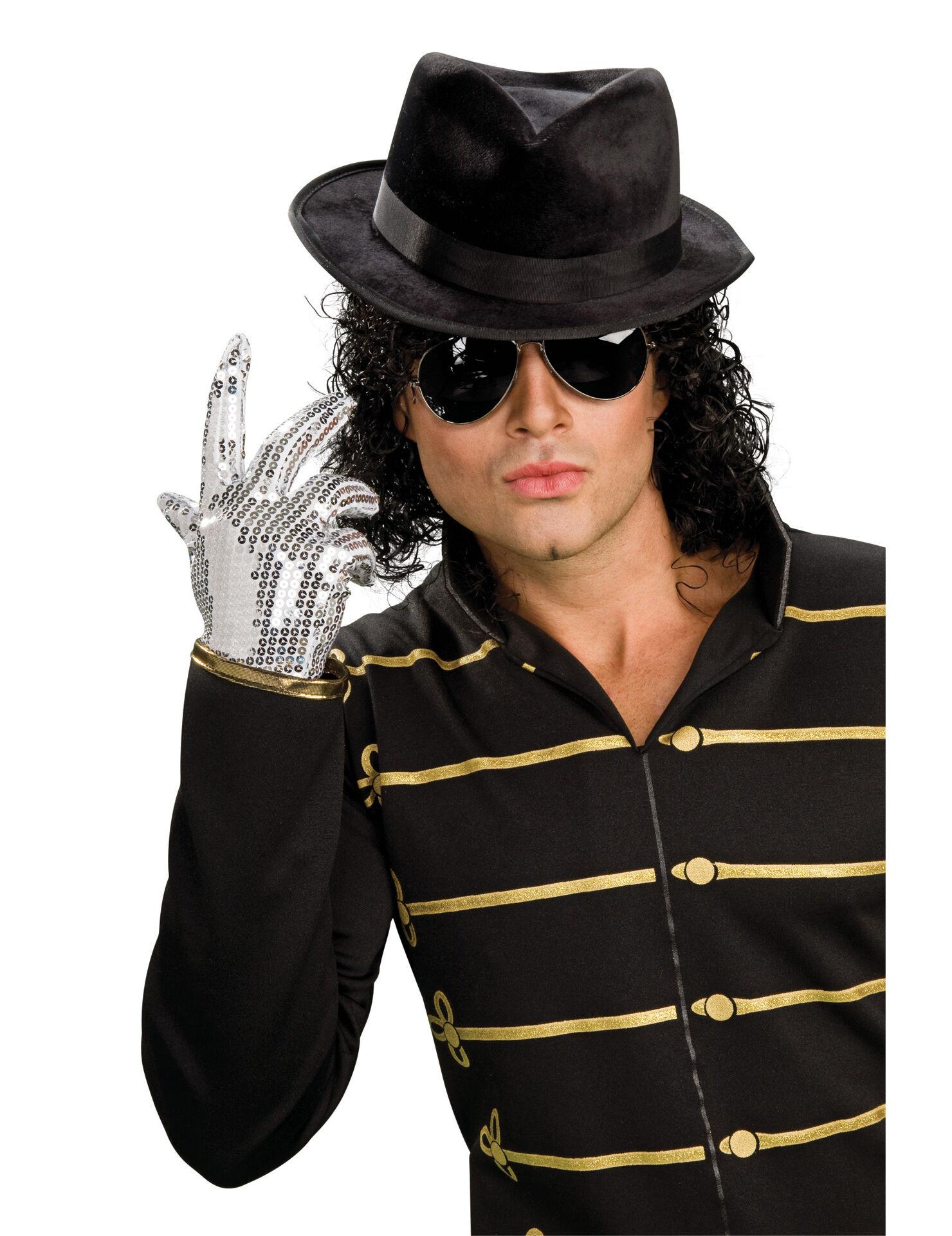 Vegaoo.es Guante de Michael Jackson con lentejuelas plateadas para adulto