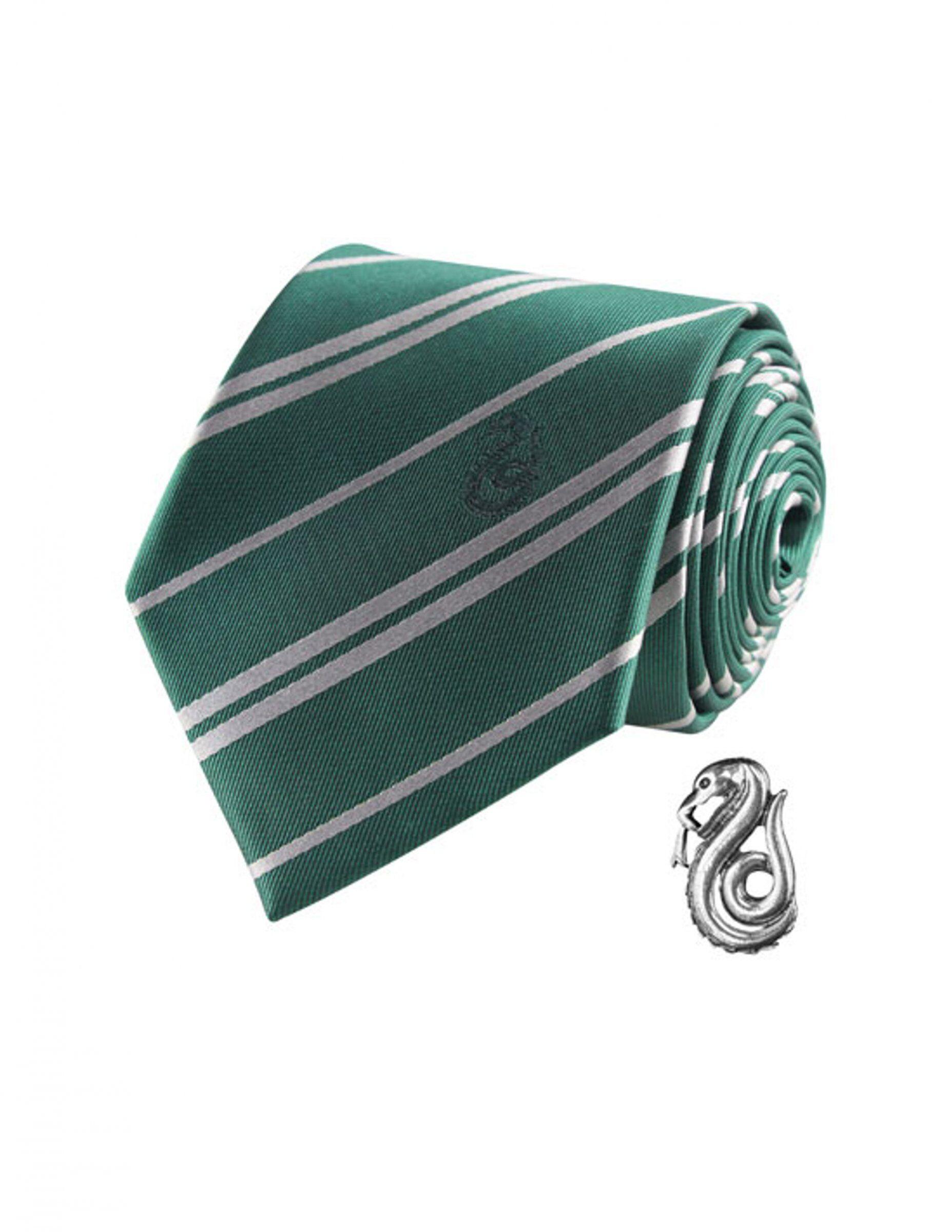 Vegaoo.es Réplica corbata de lujo con pin Slytherin Harry Potter