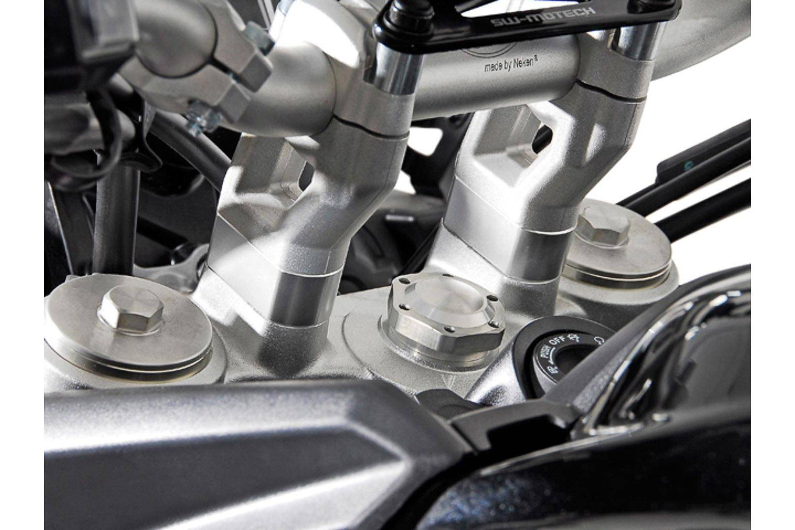 SW-Motech Elevador de manillar - h=20 mm. Plateado. Modelos Triumph ...