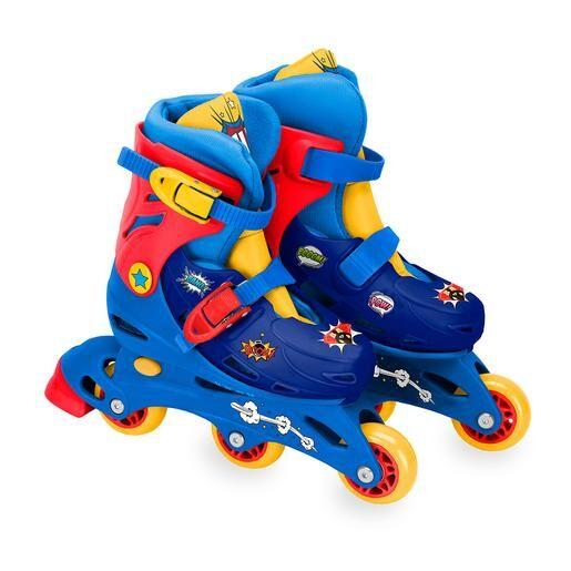SAICA Patines en Línea Tri-Skate Ajustables Superhéroe - Talla 31/34