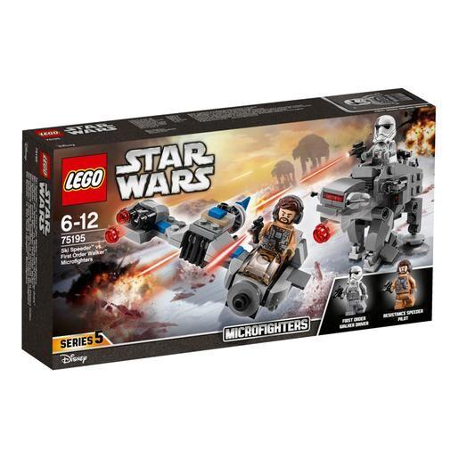 Lego Star Wars - Microfighters Speeder Esquiador vs Caminante de la Primera Orden - 75195