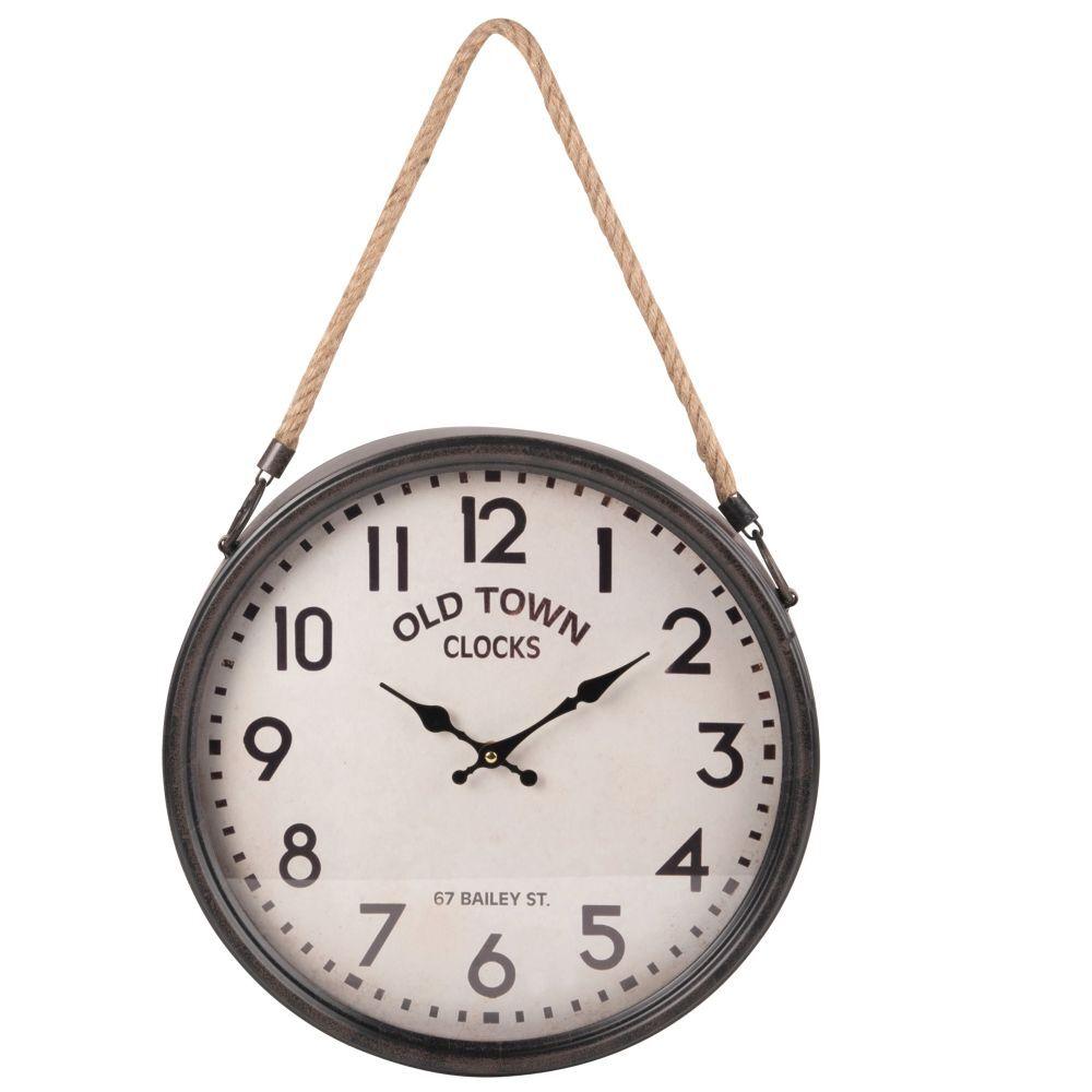 Maisons du Monde Reloj de pared de metal gris 40x62