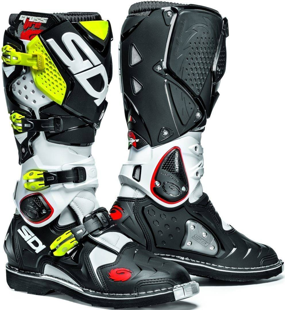 Sidi Crossfire 2 Motocross Boots Botas de Motocross Negro Amarillo 46