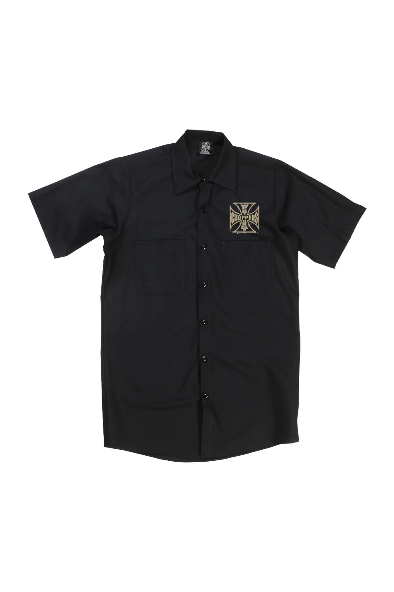 West Coast Choppers Camisa de Trabajo  Distressed OG Logo Negra