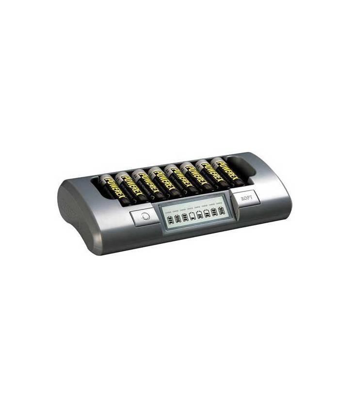 Powerex Cargador Mh-c800s Pack Plus Con 8 Pilas 2700ma