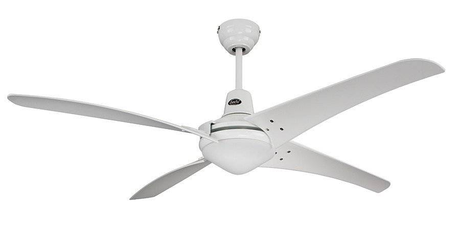 Casafan Ceiling Fan, Mirage We-We, 142 Cm, Modern White Lacquered Industrial White Blades, Remote Control, Casafan