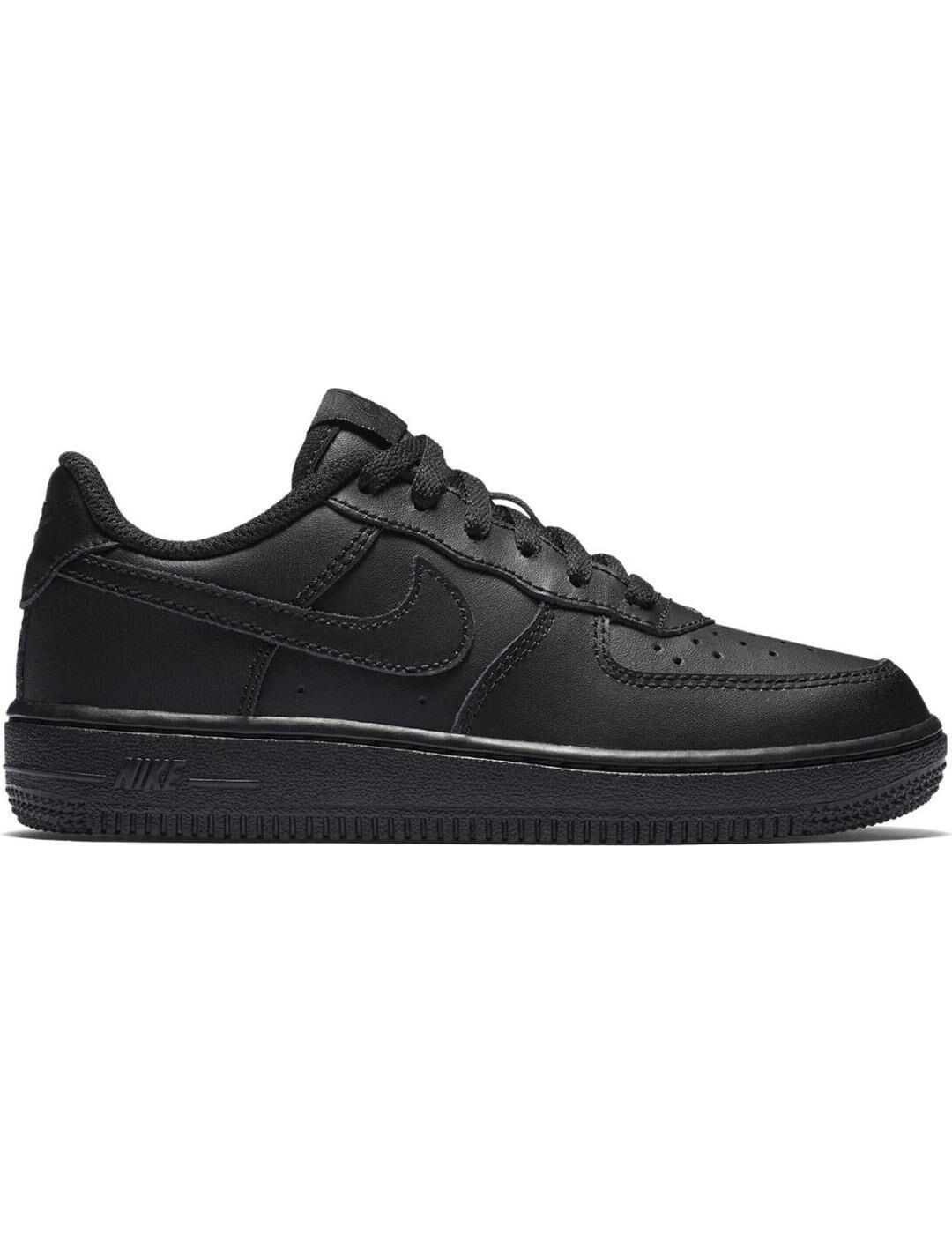 Nike Force 1 (Ps) Negro/negro Niño/a - 35