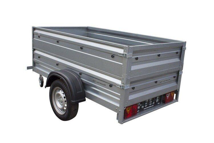 Remolque basculante de carga ligero 200 x 106 con laterales altas MMA 750 KG Garden Trailer 200