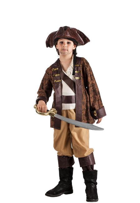 Profisa Disfraz de pirata Jack de los mares para niño - Talla 3 a 5 años